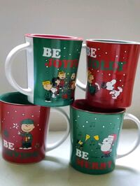 Authentic Peanuts Collectible Christmas Mugs  Los Angeles, 90025
