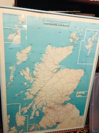 Commissioners of northern Lighthouses and buoys map poster Fort Lauderdale, 33301