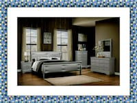 Grey Marley 11pc bedroom set free mattress & deliv McLean