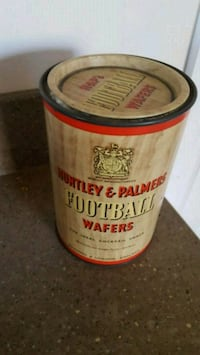 Huntley & Palmers Football Wafers 1950's Tin Antiq