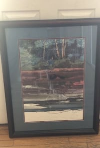 Michael Atkinson Trails' End signed and numbered limited edition framed print 25x32 Manassas