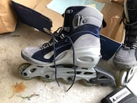 New Blue and silver in-line skates Richmond Hill, L4E 0C3