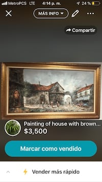 brown wooden framed painting of house screenshot Fort Washington, 20744