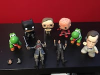 Toy lot. Funko pops and action figures. Calgary, T3K 2B7