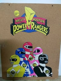 Original (Resting B faced) Power Rager tack board