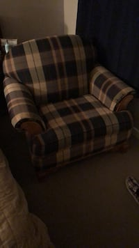 brown and black plaid sofa chair Silver Spring, 20902
