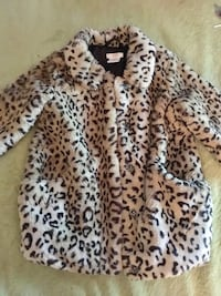 Girls joe fresh faux fur coat Guelph