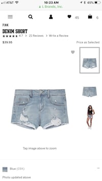 Victorias secret denim shorts NEW