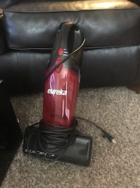 red and black Dirt Devil upright vacuum cleaner Broken Arrow, 74011