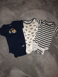 Baby's three assorted onesies. All of these are Gerber 6-9 months Greece, 14626