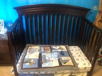 Verona Lifetime Toddler crib with bedding! What a deal.  Hastings, 55033