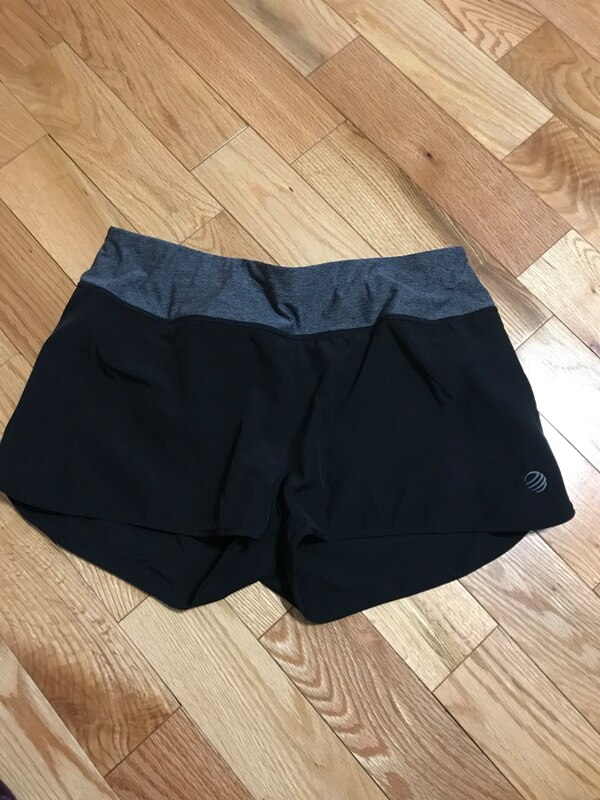 black and gray dolphin shorts