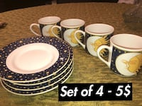 white and brown ceramic dinnerware set Laval, H7X