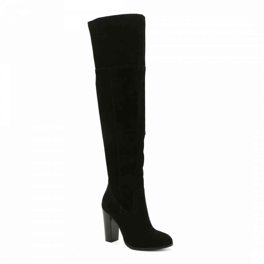 NEW Suede black over the knee boots