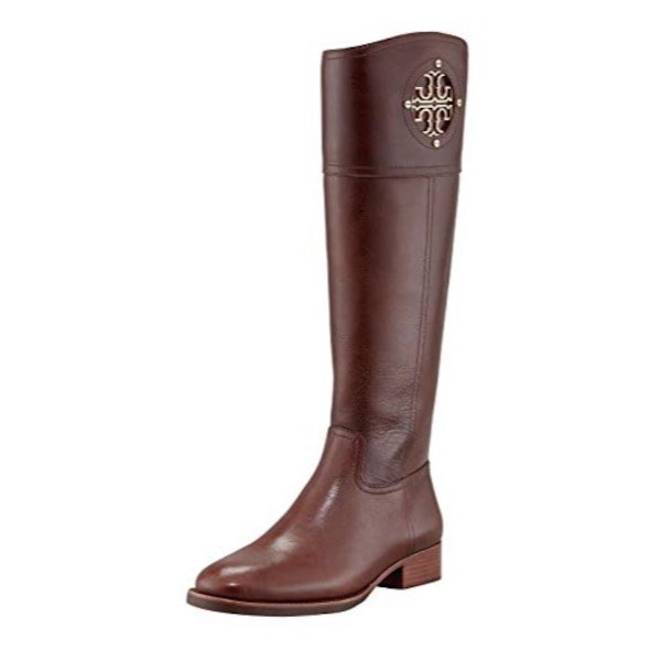 f793c4e71c44 Used Tory Burch Brown Leather Kiernan Riding Boots for sale in ...
