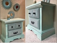 white wooden 2-drawer nightstand North Vancouver, V7J 1R8