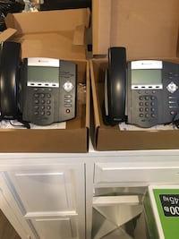 2 polycom office phones with box and manuals  Vaughan, L4J