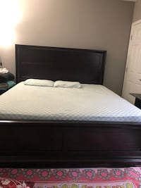 King size mattress and box spring , price negotiable if picking by today evening