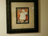 chef painting and black frame Hollister, 65672
