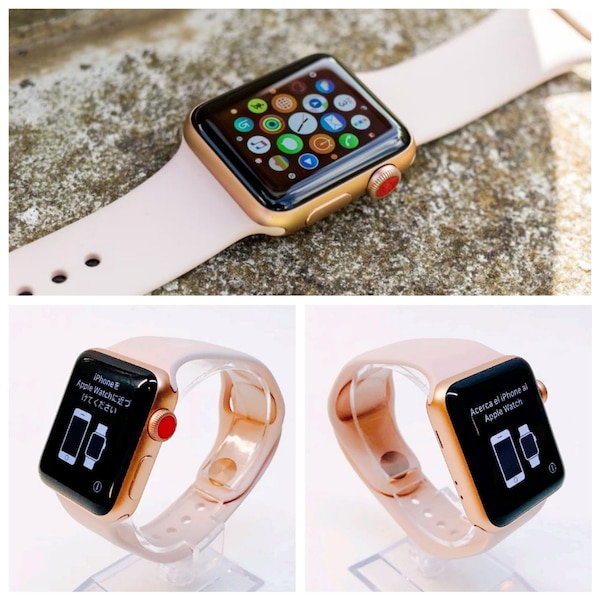 Used Apple Watch Series 3 Lte Gps Rose Gold 38mm For Sale In