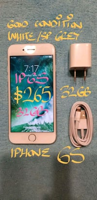 $265FIRM IPHONE 6S 32GB In Good Condition+charg Pointe-Claire, H9R 3A3