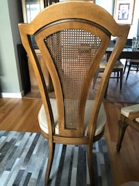 2 Brown Cane Back Dining Chairs San Leandro, 94577