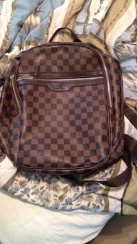 damier ebene Louis Vuitton backpack