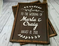 Handmade Custom wedding signs Ailsa Craig, N0M 1A0