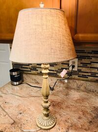 white and black table lamp Baltimore, 21231