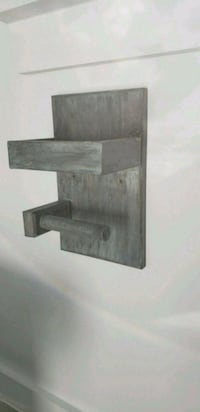 brown wooden wall mount rack Silver Spring, 20906
