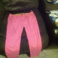 women's pink and black pants