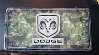 Dodge Camouflage License Plates $10 Charlotte, 28216