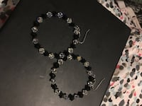 Black and white crystal earrings Laval, H7K 3X8