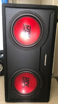 Black and red sony xplod subwoofer 300 watts of power no amp or wires