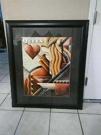 Queen painting with black wooden frame Gilbert, 85234