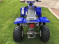 Blue and black Yamaha Banshee YFZ SANJOSE