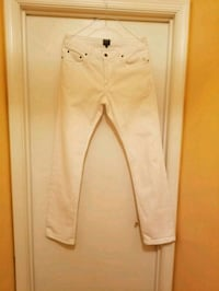 Mens Bonobos Travel White Jeans