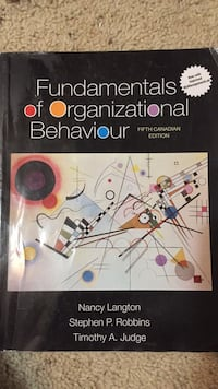 Organizational Behaviour Textbook Calgary, T1Y 4X7