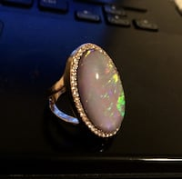 Beautiful faux opal ring size 7 Argyroupoli
