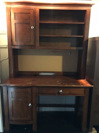 Solid wood desk & hutch. Come get it! $40 OBO