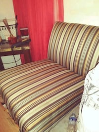 red and white striped fabric sofa chair Evansville, 47711