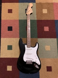 black and white stratocaster electric guitar Westchester, 60154