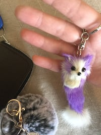 Purple and white Foxy Keychain / Fun and practical for the keys    Alexandria, 22311