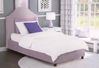 Twin Upholstered Platform Bed-Brand New  535 km