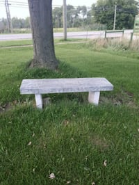 Stone bench for a decoration outside Port Colborne