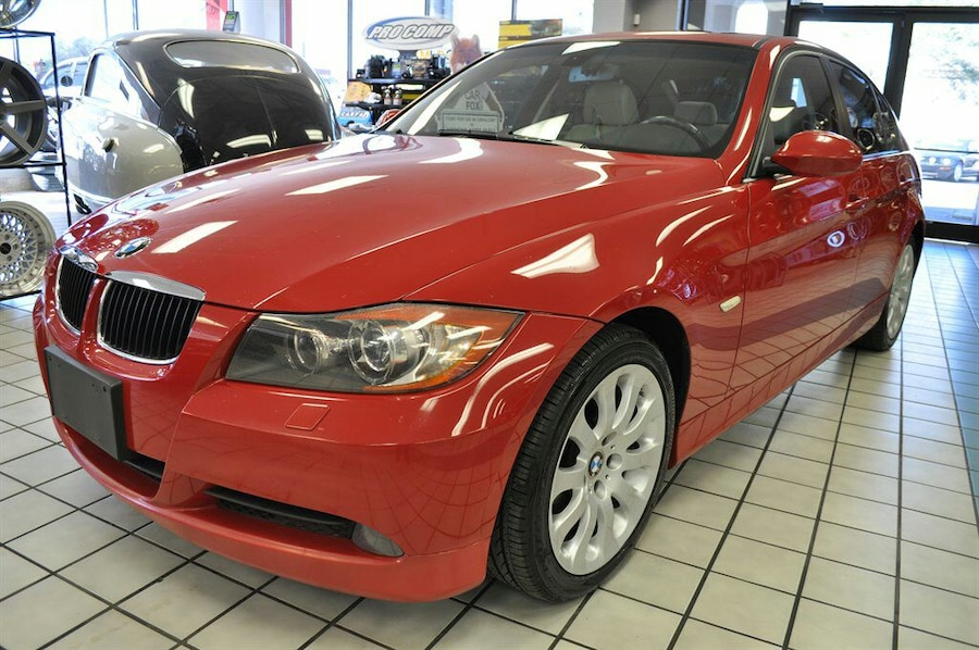 used 2007 bmw 328xi red white interior 3 0 v6 sunroof in tampa. Black Bedroom Furniture Sets. Home Design Ideas