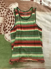 red, green, and white stripe sleeveless dress St. Catharines, L2R 3E2