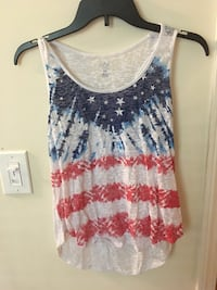 women's white and blue tank top Griffin, 30223