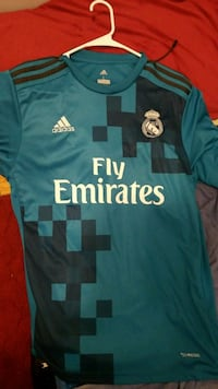 blue and white Adidas Fly Emirates jersey Chicago, 60608