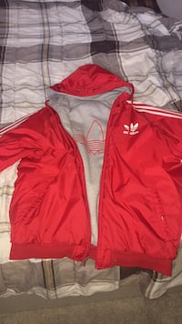 red and white Adidas zip-up jacket Belleville, K8N 4M2
